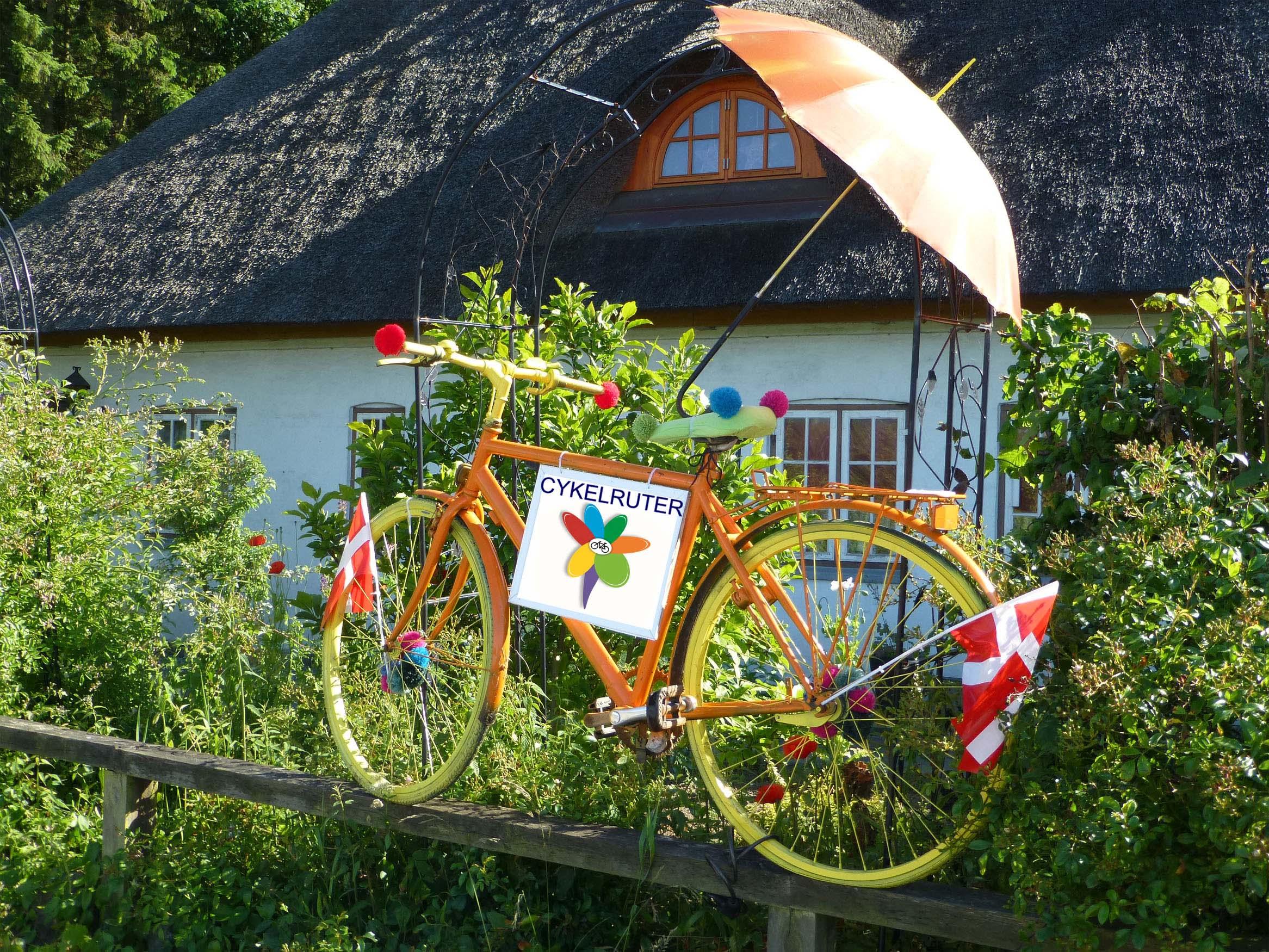 Cykel med blomst2